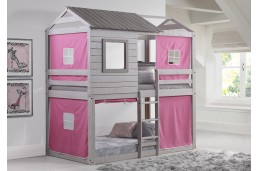 Deer Blind Bunk Loft with Pink Tents