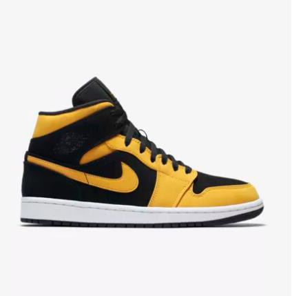 cheap mens womens Air Jordan 1 Mid Black Shoe Size 15