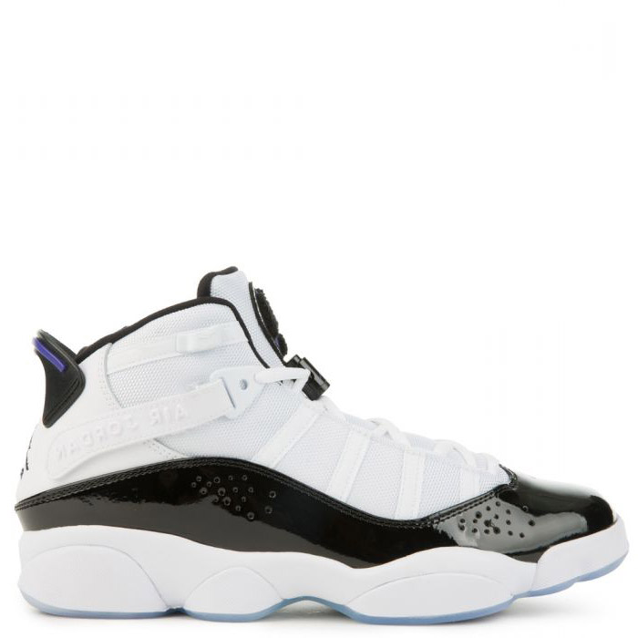 cheap JORDAN 6 RINGS MEN'S womens WHITE/BLACK/DARK CONCORD shoes