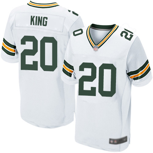 Men's Kevin King White Road Elite Football Jersey: Green Bay Packers #20  Jersey