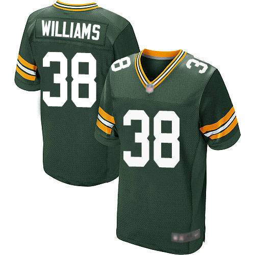 Men's Tramon Williams Green Home Elite Football Jersey: Green Bay Packers #38  Jersey