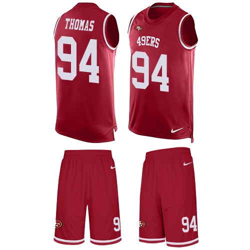 Men's Solomon Thomas Red Limited Football Jersey: San Francisco 49ers #94 Tank Top Suit  Jersey
