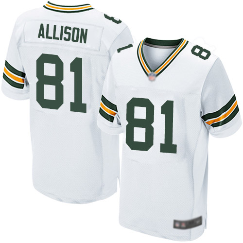 Men's Geronimo Allison White Road Elite Football Jersey: Green Bay Packers #81  Jersey