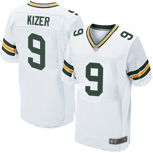 Men's DeShone Kizer White Road Elite Football Jersey: Green Bay Packers #9  Jersey