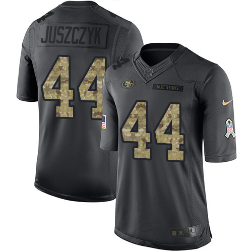 Men's Kyle Juszczyk Black Limited Football Jersey: San Francisco 49ers #44 2016 Salute to Service  Jersey
