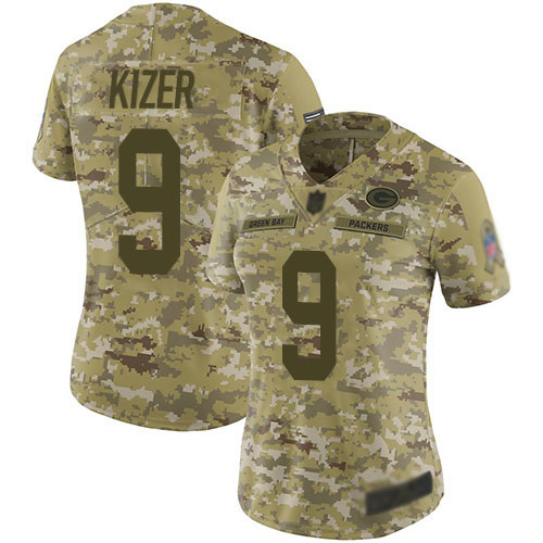 Women's DeShone Kizer Navy Blue Alternate Elite Football Jersey: Green Bay Packers #9 Vapor Untouchable  Jersey