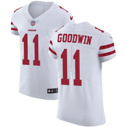 Men's Marquise Goodwin White Road Elite Football Jersey: San Francisco 49ers #11 Vapor Untouchable  Jersey