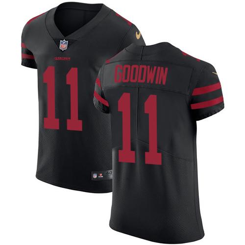 Men's Marquise Goodwin Black Alternate Elite Football Jersey: San Francisco 49ers #11 Vapor Untouchable  Jersey