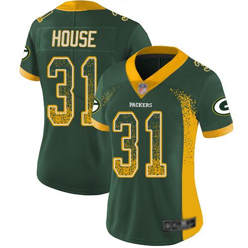 Women's Davon House Green Limited Football Jersey: Green Bay Packers #31 Rush Drift Fashion  Jersey
