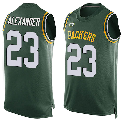 Men's Jaire Alexander Green Limited Football Jersey: Green Bay Packers #23 Player Name & Number Tank Top  Jersey