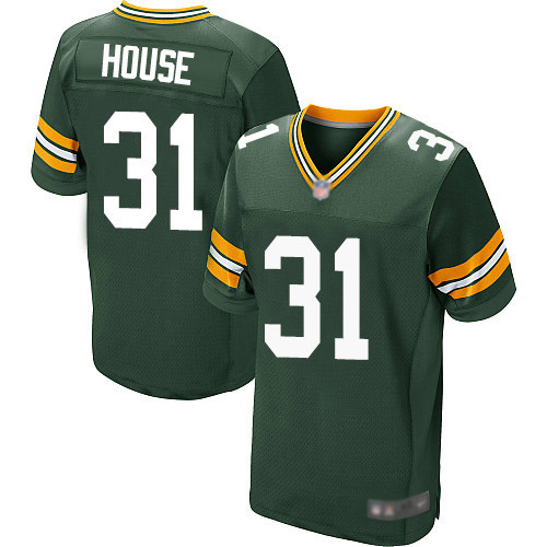 Men's Davon House Green Home Elite Football Jersey: Green Bay Packers #31  Jersey