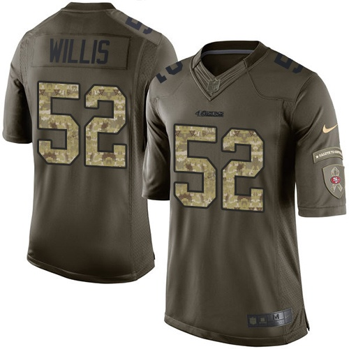 Youth Patrick Willis Green Elite Football Jersey: San Francisco 49ers #52 Salute to Service  Jersey
