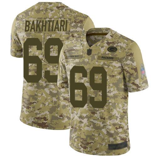 Women's David Bakhtiari Green Home Elite Football Jersey: Green Bay Packers #69 Vapor Untouchable  Jersey
