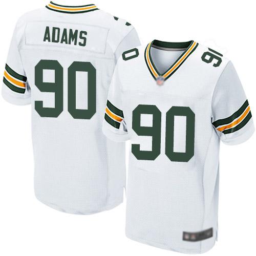 Men's Montravius Adams White Road Elite Football Jersey: Green Bay Packers #90  Jersey