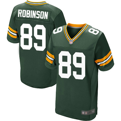 Men's Dave Robinson Green Home Elite Football Jersey: Green Bay Packers #89  Jersey
