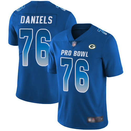 Men's Mike Daniels Royal Blue Limited Football Jersey: Green Bay Packers #76 2018 Pro Bowl  Jersey