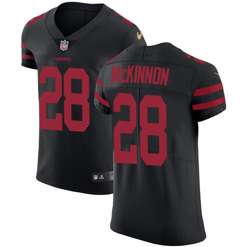 Men's Jerick McKinnon Black Alternate Elite Football Jersey: San Francisco 49ers #28 Vapor Untouchable  Jersey