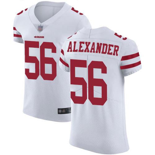 Men's Kwon Alexander White Road Elite Football Jersey: San Francisco 49ers #56 Vapor Untouchable  Jersey