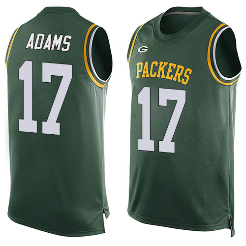 Men's Davante Adams Green Limited Football Jersey: Green Bay Packers #17 Player Name & Number Tank Top  Jersey