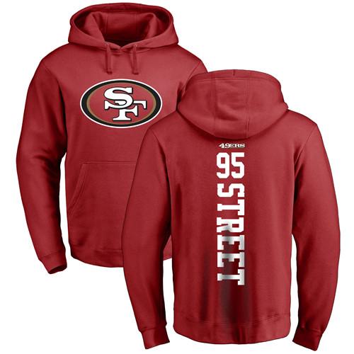 Kentavius Street Red Backer Football : San Francisco 49ers #95 Pullover Hoodie