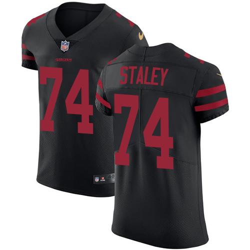 Men's Joe Staley Black Alternate Elite Football Jersey: San Francisco 49ers #74 Vapor Untouchable  Jersey
