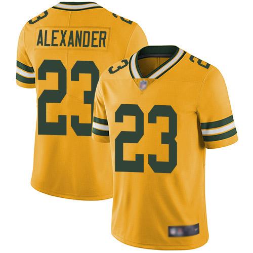 Men's Jaire Alexander Gold Elite Football Jersey: Green Bay Packers #23 Rush Vapor Untouchable  Jersey