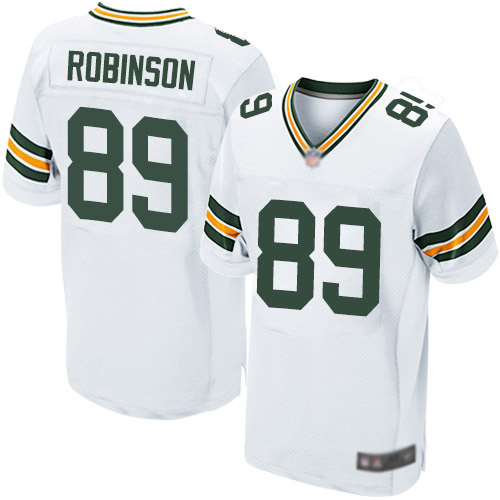 Men's Dave Robinson White Road Elite Football Jersey: Green Bay Packers #89  Jersey