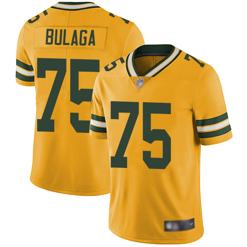 Men's Bryan Bulaga Gold Elite Football Jersey: Green Bay Packers #75 Rush Vapor Untouchable  Jersey