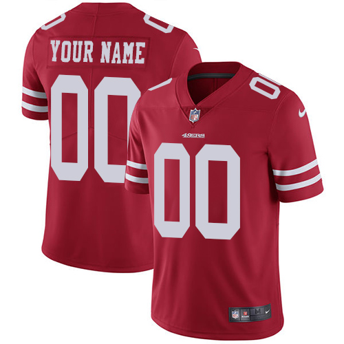 Youth Red Home Elite Football Jersey: San Francisco 49ers Customized Vapor Untouchable  Jersey