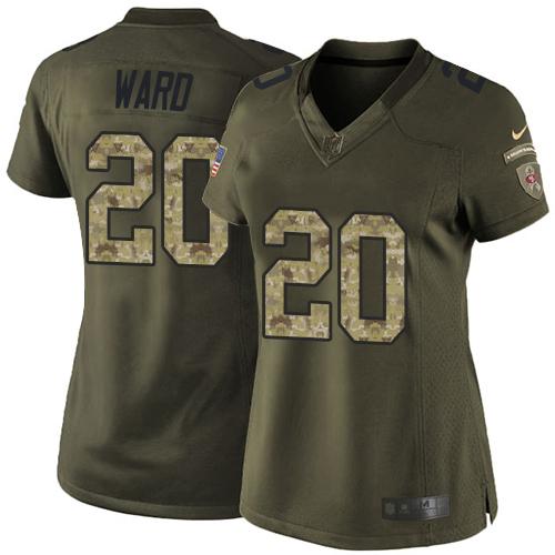 Women's Jimmie Ward Green Elite Football Jersey: San Francisco 49ers #20 Salute to Service  Jersey