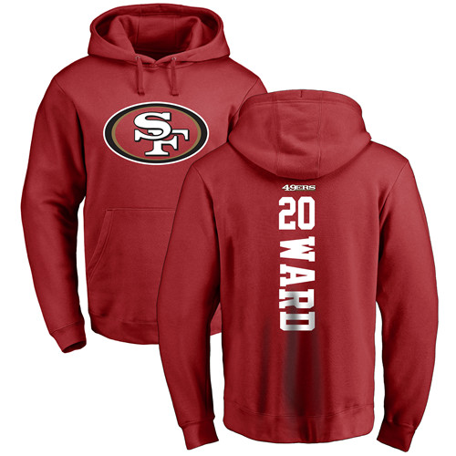 Jimmie Ward Red Backer Football : San Francisco 49ers #20 Pullover Hoodie