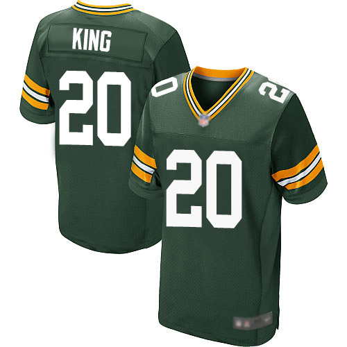 Men's Kevin King Green Home Elite Football Jersey: Green Bay Packers #20  Jersey