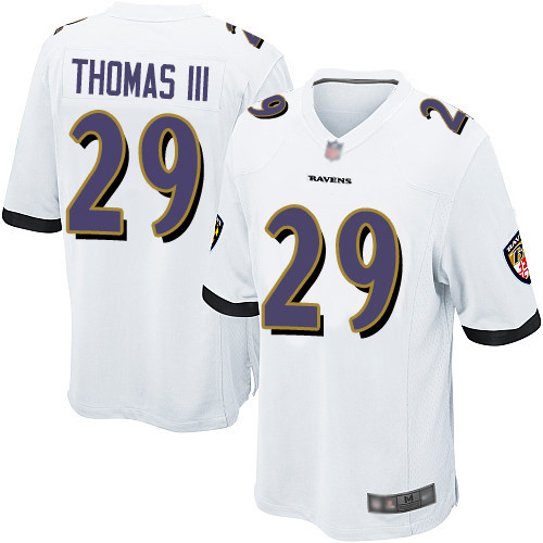 Men's Terrell Suggs White Road Game Football Jersey: Baltimore Ravens #55  Jersey