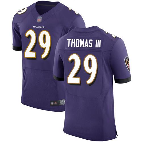 Men's Terrell Suggs Purple Home Elite Football Jersey: Baltimore Ravens #55 Vapor Untouchable  Jersey