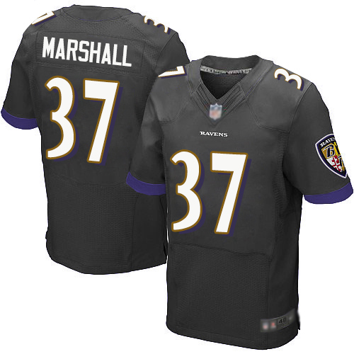 Men's Brent Urban Black Alternate Elite Football Jersey: Baltimore Ravens #96  Jersey