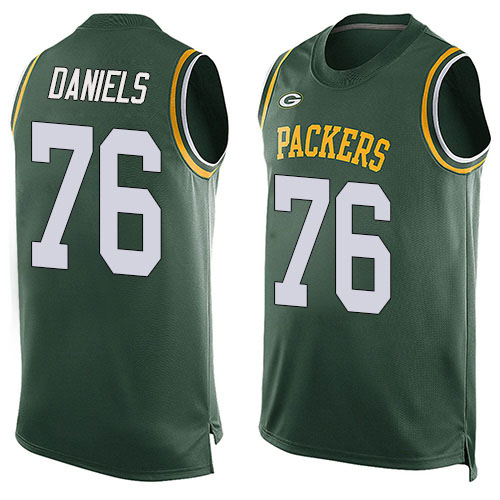 Men's Mike Daniels Green Limited Football Jersey: Green Bay Packers #76 Player Name & Number Tank Top  Jersey