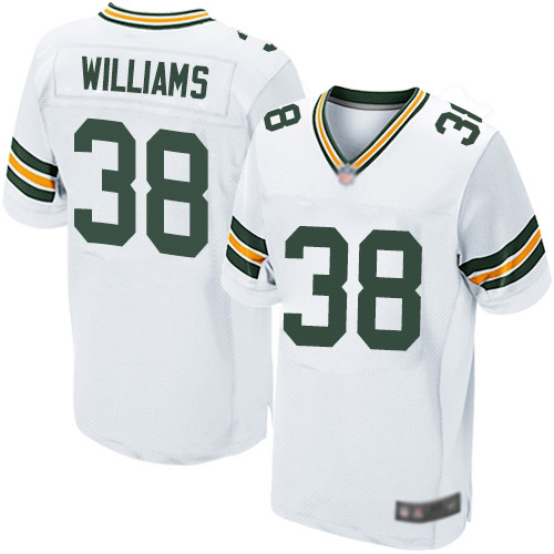 Men's Tramon Williams White Road Elite Football Jersey: Green Bay Packers #38  Jersey