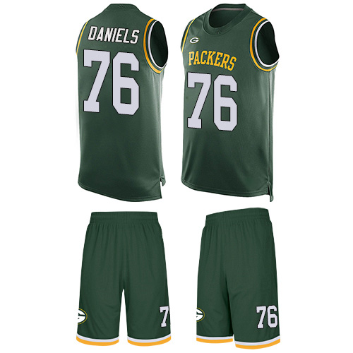 Men's Mike Daniels Green Limited Football Jersey: Green Bay Packers #76 Tank Top Suit  Jersey