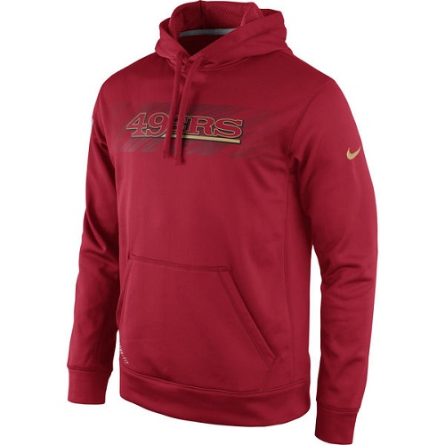 Football San Francisco 49ers  KO Speed Wordmark Performance Hoodie - Red