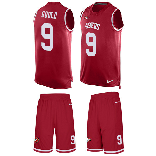 Men's Robbie Gould Red Limited Football Jersey: San Francisco 49ers #9 Tank Top Suit  Jersey