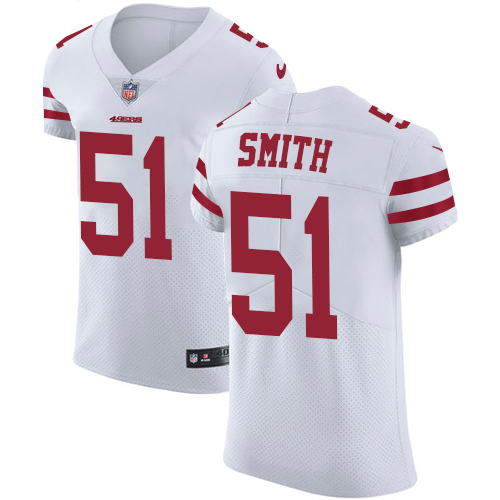 Men's Malcolm Smith White Road Elite Football Jersey: San Francisco 49ers #51 Vapor Untouchable  Jersey