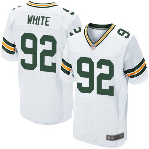 Men's Reggie White White Road Elite Football Jersey: Green Bay Packers #92  Jersey