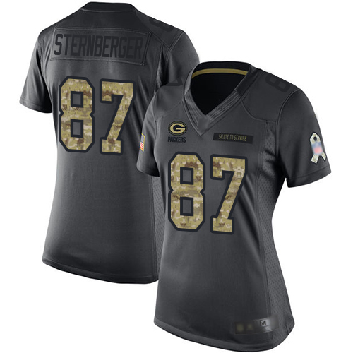 Women's Muhammad Wilkerson Black Limited Football Jersey: Green Bay Packers #96 2016 Salute to Service  Jersey