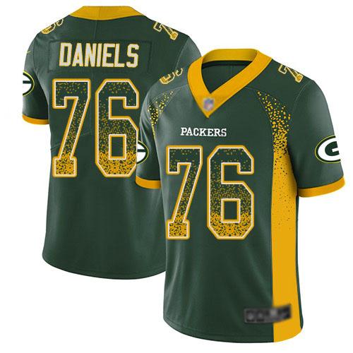 Men's Mike Daniels Green Limited Football Jersey: Green Bay Packers #76 Rush Drift Fashion  Jersey