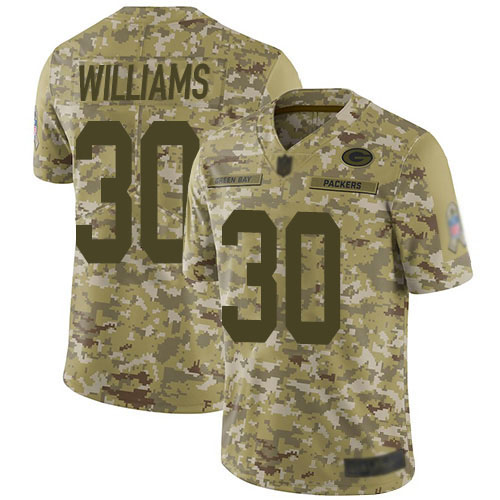 Women's Jamaal Williams White Road Elite Football Jersey: Green Bay Packers #30 Vapor Untouchable  Jersey