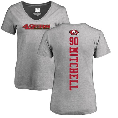 Women's Raheem Mostert Red Name & Number Logo Football : San Francisco 49ers #31 Pullover Hoodie