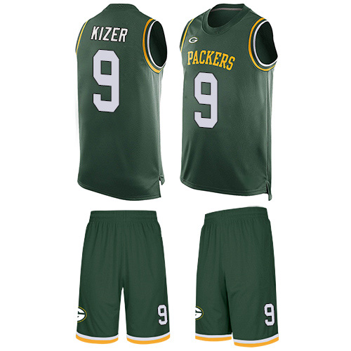 Men's DeShone Kizer Green Limited Football Jersey: Green Bay Packers #9 Tank Top Suit  Jersey