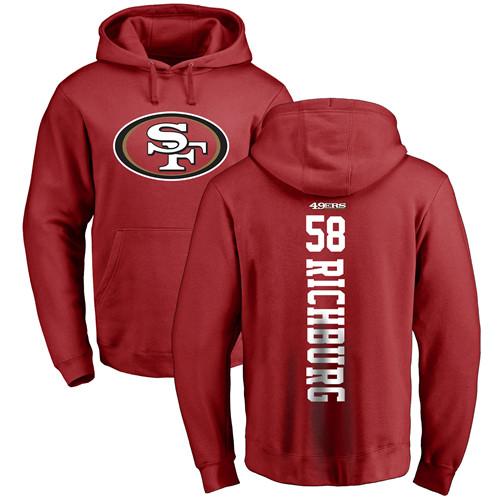 Weston Richburg Red Backer Football : San Francisco 49ers #58 Pullover Hoodie