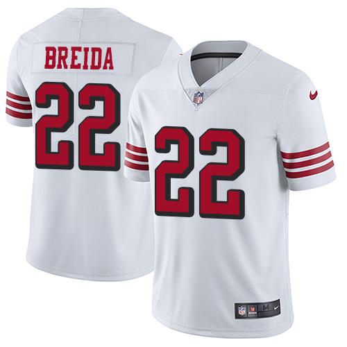 Men's Matt Breida White Elite Football Jersey: San Francisco 49ers #22 Rush Vapor Untouchable  Jersey