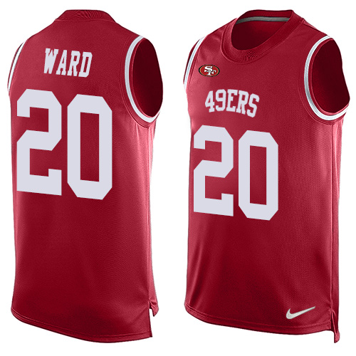 Men's Jimmie Ward Red Limited Football Jersey: San Francisco 49ers #20 Player Name & Number Tank Top  Jersey
